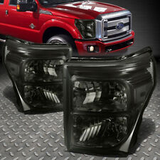 FOR 11-16 FORD F250 F350 SUPER DUTY SMOKED HOUSING CLEAR CORNER HEADLIGHT LAMPS