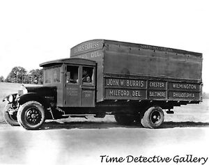 John Burris Express Truck, Milford, Delaware - 1925 - Historic Photo Print