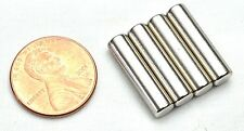 4pcs Strong Round Long Cylinder N35 Magnets 20mm x 5mm Rare Earth Neodymium