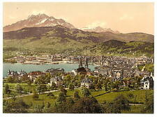 Pilatus And Lucerne Lucerne A4 Photo Print