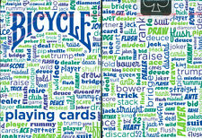 BICYCLE TABLE TALK PLAYING CARDS in BLUE