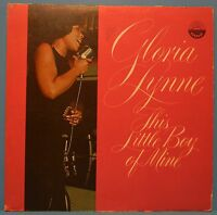 GLORIA LYNNE THIS LITTLE BOY OF MINE VINYL LP MONO 1961 R&B SOUL FUNK G+/VG!!