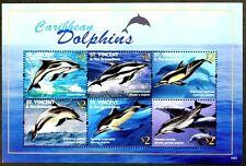 B189 ST. VINCENT 2010 Caribbean Dolphins minisheet MNH