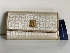 NEW! TOMMY HILFIGER GOLD YELLOW CHECKBOOK CLUTCH PURSE WALLET PURSE $39 SALE