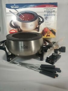 Rival Stainless Steel Electric Fondue Pot Set - FD325-S Immersible Party Time