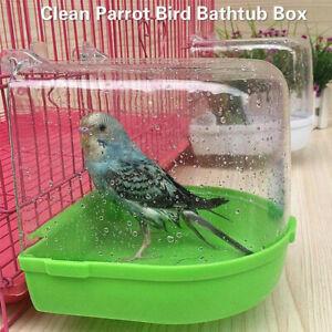 Toys Round Hanging Cage Bird Cage Accessories Bath Shower Box Parrot Bathtub