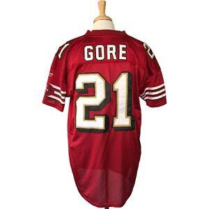 Reebok San Francisco 49ers Frank Gore On Field Jersey Size 52 Pro Cut