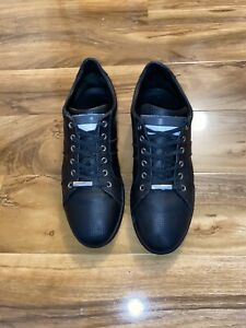 100% Genuine  DIOR  Christian Dior Black Leather  Trainers  Fit Size Uk  11