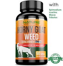 HORNY GOAT WEED EXTRACT with MACA 2340 mg Women Men Sexual Performance Enhancer
