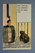R&L Postcard: Beat All Comic Keep Cool, Stay Calm, Happiest Day of Your Life