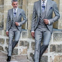 Mens Dinner Party Prom Suits Groom Tuxedos Groomsmen Wedding Blazer Suits Custom