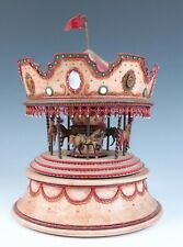 1972 Keith Brian Staulcup Vintage Miniature Brilar Carousel Musical Music Box