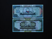 HAITI BANKNOTES SET OF TWO  -   10  &  50 GOURDES   2000 - 2003   MINT UNC