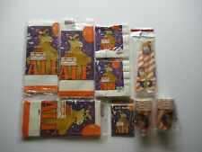 Vintage 1980's Alf Birthday Party Sealed Lot Cups Napkins Invitations Horns Etc