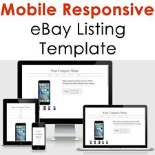 Template Ebay Listing 2018 Auction Design Responsive Professional Compliant Html