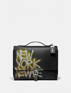COACH x Jean Michel Basquiat rogue messenger Leather Crossbody ~NWT~ 7048