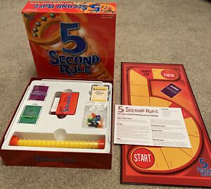 5 Second Rule Board Game - University Games- Family Fun