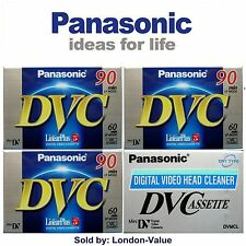 3 X MINI DV TAPES + HEAD CLEANER for Sony JVC Canon Samsung Camcorders