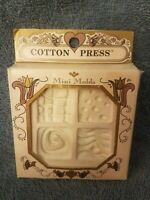 Cotton Press Vintage Lot Of 2 Clay Cookie Press Molds 1992