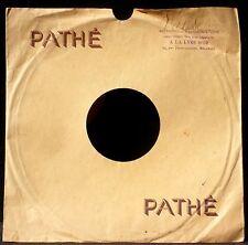 Pochette 78 trs / 78 RPM avec tampon A la lyre d 'or Malakoff EX