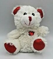 Greenbrier Teddy Bear Plush Stuffed Animal Toy White/Red Heart, <Great Gift>, 6""