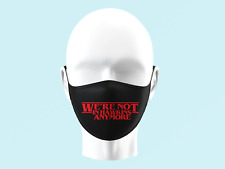 Strange Things Face Mask Personalised Kids Adults Washable Hawkins Dustin 0100