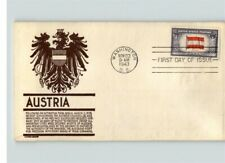 3 AUSTRIA, Overrun Country First Day covers, Anderson diff colors, 1943