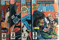 Detective Comics Starr Batman No's 541, 543, 544, 547 1984-85 Great Bundle Deal