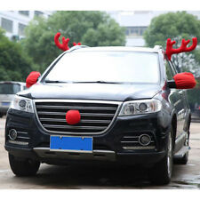 Lovely christmas costume decoration truck car decor two antlers and red nose_R