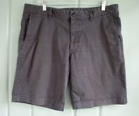 The North Face Mens Size 36 Gray Flat Front Cotton Stretch Chinos Shorts Canvas