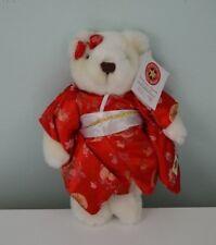 Hard Rock Cafe Tokyo Teddy Bear Plush Stuffed Animal Herrington 2005 Kimono Red