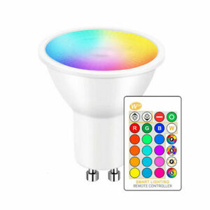 5W GU10 LED Bulbs Light RGB 16Colour Changing Spotlight Lamp With Remote Control