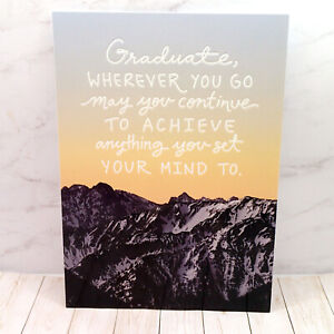 Congratulations Graduation Greeting Card ANYTHING YOU SET YOUR MIND TO