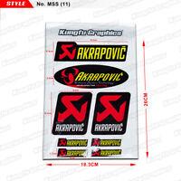 Motorbike Decals Sticker Graphics for AKRAPOVIĆ AKRAPOVIC Exhaust Muffler Badge