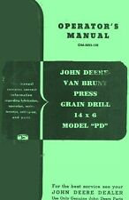 JOHN DEERE PD VanBrunt Grain Drill 14 Operators Manual