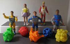 Vintage THE REAL GHOSTBUSTERS 1989 Kenner SCREAMING HEROES w/GHOSTS 5 Figure Set