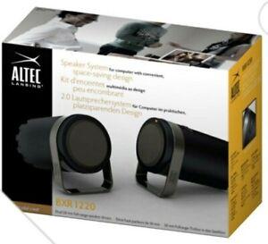 ALTEC Lansing BXR1220 Desktop PC Laptop Audio 2 Music Speakers Optimum Sound NEW