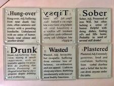 Kikkerland Drunk Glass Coasters