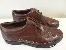 Mens Clarks Shoes Size 8 Upper Leather Brown shoes VGC