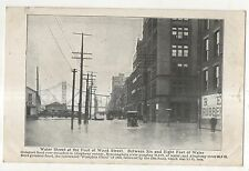 Water and Wood Street, 1907 FLOOD, PITTSBURGH PA Vintage Pennsylvania Postcard