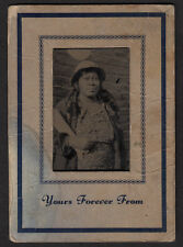 """""""YOURS FOREVER"""" BLACK WOMAN in MODEST CLOTHING~ 1930s VINTAGE PANOTYPE PHOTO!"""