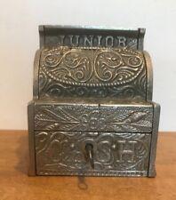 Vintage JUNIOR CASH REGISTER (SMALL) VINTAGE CAST IRON BANK, J & E STEVENS 1920s
