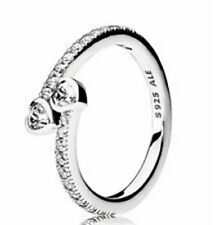 Genuine Pandora Sterling Silver Forever Hearts CZ Ring Size 7.5 191023CZ-56