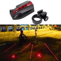 LED Laser NEU Rücklicht Fahrrad Lampe Fahrradlicht-Beleuchtung Lampe mit 2 Laser