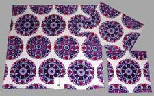 3 JAKSON Medallion Rosettes Purple Pink Velour Bath & Hand Towel Wash Cloth NWT