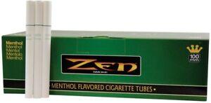 5x Boxes ( ZEN Menthol 100s 100mm ) Cigarette RYO 200 Tubes Box USA Seller