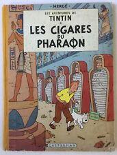 Tintin Les cigares du pharaon Hergé Casterman 1955 B14 EO couleur française