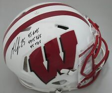 Badgers MELVIN GORDON Signed FS Authentic Speed Helmet AUTO w/ Career Stats JSA!