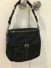 PRADA Women's Tote Handbags.Pre owned,Nylon /leather with Metal Hardware