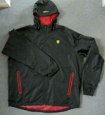 Official Ferrari Merchandise XXL Rain Jacket Windbreaker Black New With Tags